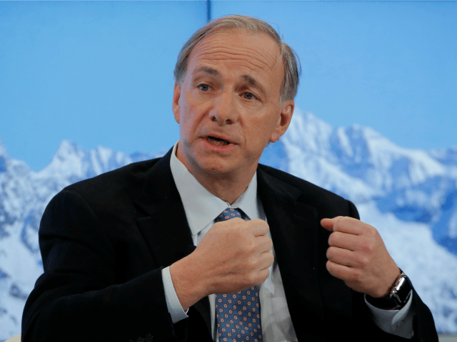 Ray Dalio, founder of Bridgewater Associates, speaks during a panel on the second day of the annual meeting of the World Economic Forum in Davos, Switzerland, Wednesday, Jan. 18, 2017. (AP Photo/Michel Euler)