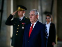 U.S. Secretary of State Rex Tillerson stands before laying a wreath at the mausoleum of Turkey's founding father Mustafa Kemal Ataturk, in Ankara, Turkey, Thursday, March 30, 2017. Tillerson and Turkish officials on Thursday discussed ways to coordinate the fight against the Islamic State group in Iraq and Syria, a day after Turkey said it has ended a military operation in northern Syria.(AP Photo/Lefteris Pitarakis)
