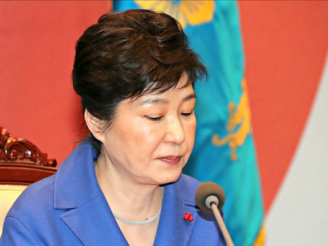 FILE - In this Dec. 9, 2016, file photo, South Korean President Park Geun-hye attends an emergency Cabinet meeting at the presidential office in Seoul, South Korea. In a historic ruling Friday, March 10, 2017, South Korea's Constitutional Court formally removed impeached President Park Geun-hye from office over a corruption …