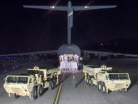 Photo provided by U.S. Forces Korea, a truck carrying parts of U.S. missile launchers and other equipment needed to set up the Terminal High Altitude Area Defense (THAAD) missile defense system arrive at the Osan base, South Korea. The U.S. military has begun moving equipment for the controversial missile defense …