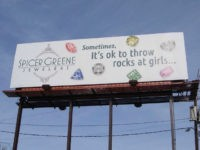 North Carolina Jewelry Store Apologizes for Billboard Saying It Is 'Okay to Throw Rocks at Girls'