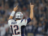 Tom Brady of the New England Patriots reacts after a touchdown late in the fourth quarter against the Atlanta Falcons during Super Bowl 51 at NRG Stadium on February 5, 2017 in Houston, Texas
