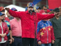 Venezuela's President Nicolas Maduro speaks during an anti-imperialist rally in Caracas, Venezuela, Thursday, March 9, 2017. President Maduro said that the construction of a wall proposed by U.S. President Donald Trump on the U.S. - Mexico border is not against Mexico but against Latin America. (AP Photo/Ariana Cubillos)
