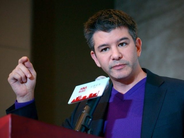 "Uber chief Travis Kalanick, pictured in 2016, said he had ""treated an Uber driver disrespectfully"""