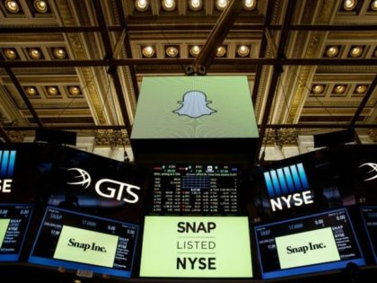 """Snapchat is trading under the ticker """"SNAP"""" on the New York Stock Exchange"""