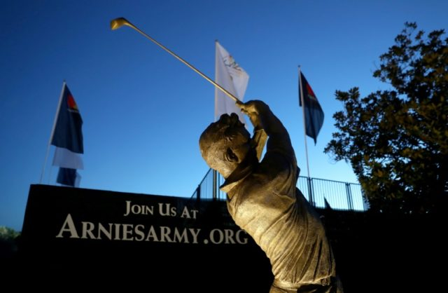 Arnold Palmer statue is seen at the Bay Hill Club & Lodge in Orlando, Florida, on March 14, 2017