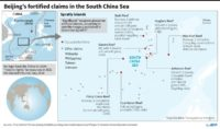 Analysis shows significant weaponry on artificial islands that China has built in the South China Sea, including anti-aircraft guns