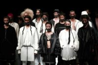 Models present the genderless creations of ACUOD by CHANU at Tokyo Fashion Week on March 22