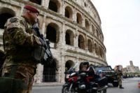 Security is tight in Rome as EU leaders meet on the 60th anniversary of the bloc's founding with snipers on rooftops, drones in the skies and 3,000 police on the streets