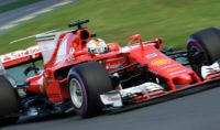 Ferrari's Sebastian Vettel unleashed a best lap of one minute 23.380 seconds to finish top of the timesheets before qualifying at the Australian Grand Prix