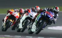 Riders compete in the 2016 Qatar Grand Prix in Doha
