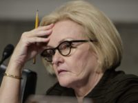 FILE - In this March 14, 2017 file photo, Sen. Claire McCaskill, D-Mo. listens on Capitol Hill in Washington. McCaskill is seeking marketing information, sales records and studies from manufacturers of the top-selling opioid products in the United States to determine whether drugmakers have contributed to an overuse of the …
