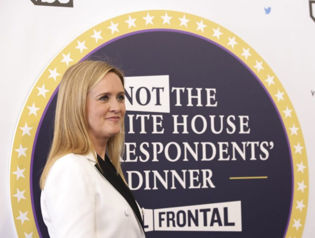 "Samantha Bee arrives for ""Full Frontal with Samantha Bee's Not the White House Correspondents' Dinner"" at DAR Constitution Hall on Saturday, April, 29, 2017, in Washington. (Photo by Brent N. Clarke/Invision/AP)"