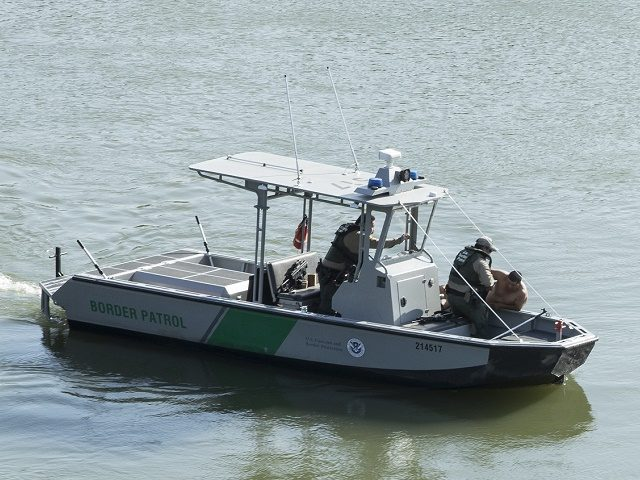 Border Patrol agents rescue Mexican national from drowning in Rio Grande River near Roma, Texas.