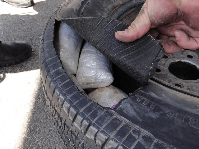 Border Patrol Drug Seizure in spare tire.