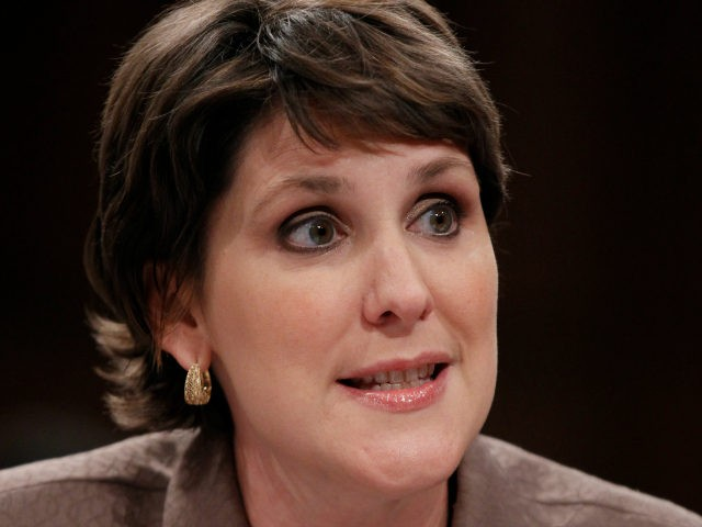 In this July 1, 2010 file photo, Dr. Charmaine Yoest testifies on Capitol Hill in Washington. The White House says President Donald Trump is appointing Yoest, the former president of a leading anti-abortion organization to a senior position at the Health and Human Services Department. (AP Photo/Pablo Martinez Monsivais, File)