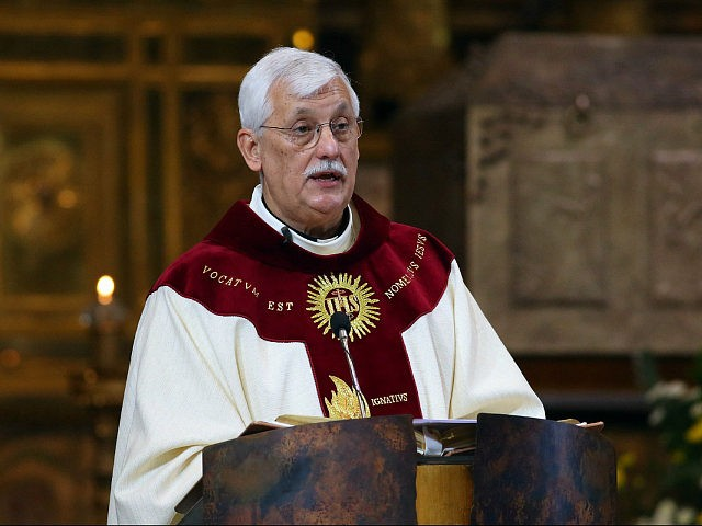 ROME, ITALY - OCTOBER 15: New Superior General of The Society of Jesus father Arturo Sosa Abascal delivers his first homily as leader of the Jesuits during the Thanksgiving Mass at the Church of Jesus, on October 15, 2016 in Rome, Italy. The Superior General of the Society of Jesus …