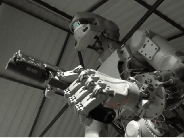 The Fedor robot learning to shoot pistols