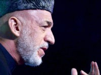 Former President of Afghanistan, Hamid Karzai speaks during the Mother Teresa Memorial International Award ceremony for Social Justice 2016 in Mumbai on November 20, 2016. / AFP / INDRANIL MUKHERJEE (Photo credit should read INDRANIL MUKHERJEE/AFP/Getty Images)