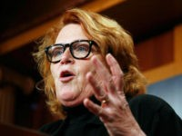 FILE - In this March 14, 2017, file photo, Sen. Heidi Heitkamp, D-N.D., speaks during a news conference on Capitol Hill in Washington. Left-leaning voters in North Dakota are grappling with Heitkamp's support of President Donald Trump's Supreme Court nominee, with some of them tempering disappointment with an acknowledgement of …