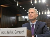 Supreme Court Justice nominee Neil Gorsuch arrives on Capitol Hill in Washington, Tuesday, March 21, 2017, for his confirmation hearing before the Senate Judiciary Committee. (AP Photo/Susan Walsh)