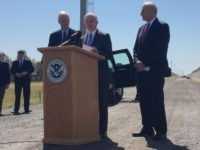 Jeff Sessions at border with Ron Johnson and John Kelly (Joel Pollak / Breitbart News)