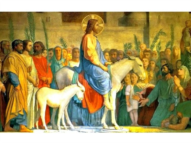 Jesus Enters Jerusalem Palm Sunday