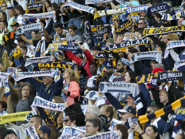 LA Galaxy fans (Ringo H.W. Chiu / Associated Press)