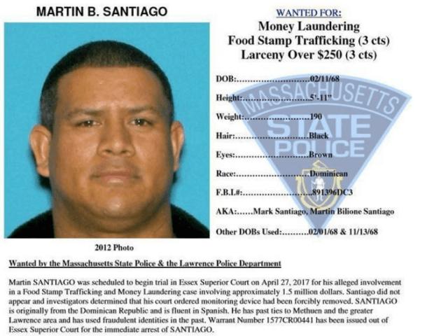 Martin B. Santiago - wanted