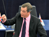 British MEP and member of the British UKIP party Nigel Farage, delivers a statement at the European Parliament in Strasbourg, eastern France, Tuesday, Dec. 13, 2011 during the debate on the European debt crisis and the EU summit.