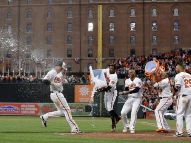 Orioles Celebrating