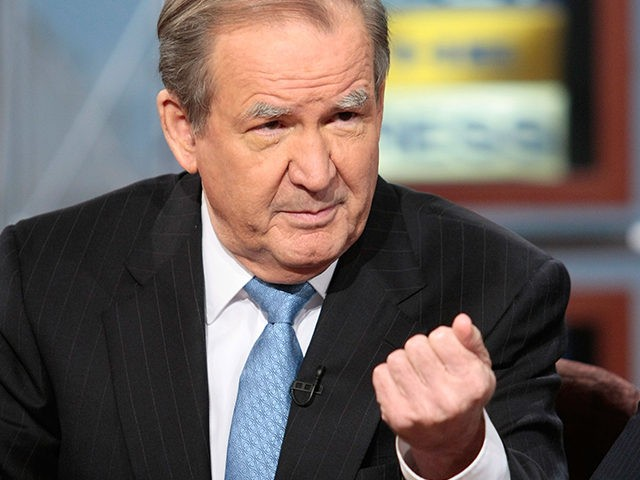 SEPTEMBER 30: (AFP OUT) Former U.S. President candidate Pat Buchanan speaks during a taping of 'Meet the Press' at the NBC studios September 30, 2007 in Washington, DC. Buchanan spoke on topics related to the 2008 presidential elections. (Photo by Alex Wong/Getty Images for Meet the Press)
