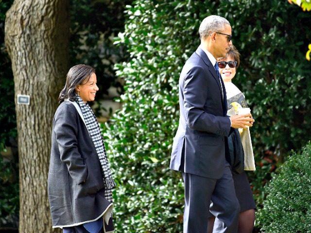 Susan Rice, Valerie Jarrett, Obama Getty