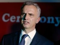 Switzerland's Foreign Affairs Minister, Didier Burkhalter, attends the Inauguration ceremony of the new Switzerland consulate general office in Lagos, Nigeria, Tuesday, March. 8, 2016. (AP Photo/Sunday Alamba)