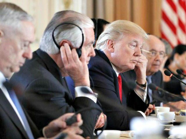Trump Listening Alex BrandonAP