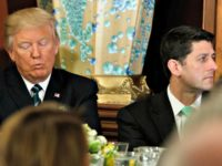 Trump, Ryan looking away-AP