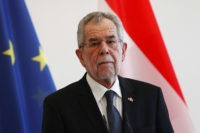 BERLIN, GERMANY - MARCH 3: Austrian's state President Alexander Van der Bellen speaks during a joint press conference with germans President in the Bellevue Castle after of the Military honor ceremony on March 3, 2017 in Berlin, Germany. After visiting the european institutions, the newly elected 12th President of Austria, …