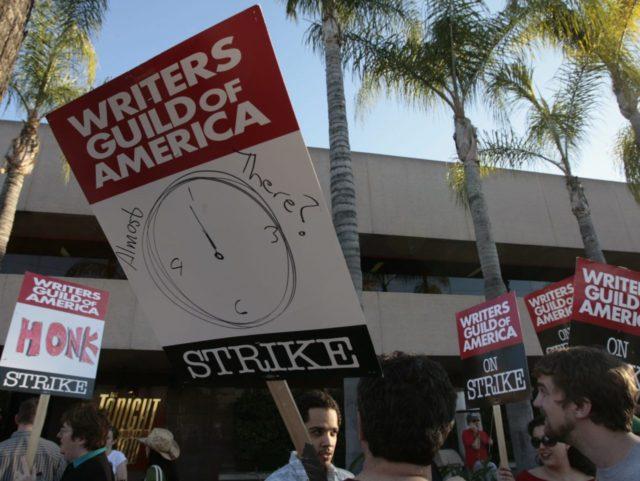 Writers Guild (Damian Dovaranes / Associated Press)