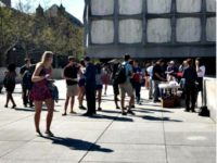 Yale College Republicans Hold Barbecue Next to Union Hunger Strike