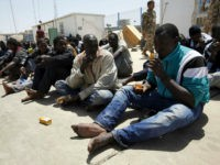 Illegal migrants who attempted to flee the coast to Europe are seen at the Libyan Navy base in the the coastal city of Tripoli May 5, 2015. REUTERS/Ismail Zitouny
