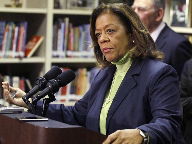 FILE - In this Oct. 12, 2012 file photo, Chicago Public Schools CEO Barbara Byrd-Bennett speaks at a news conference in Chicago. The former CEO has been indicted on corruption charges following a federal investigation into a $20 million no-bid contract. Bennett was indicted Thursday, Oct. 8, 2015, nearly four …