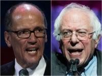 Tom Perez and Bernie Sanders