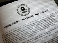 Proposals for the Environmental Protection Agency (EPA) in President Donald Trump's first budget are displayed at the Government Printing Office in Washington, Thursday, March, 16, 2017. The $1.15 trillion presentation proposes a reordering of national spending priorities, pumping significantly more money into the military and homeland security while sharply cutting …