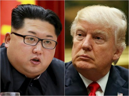 Dictator of North Korea Kim Jong-un and President of the United States Donald Trump