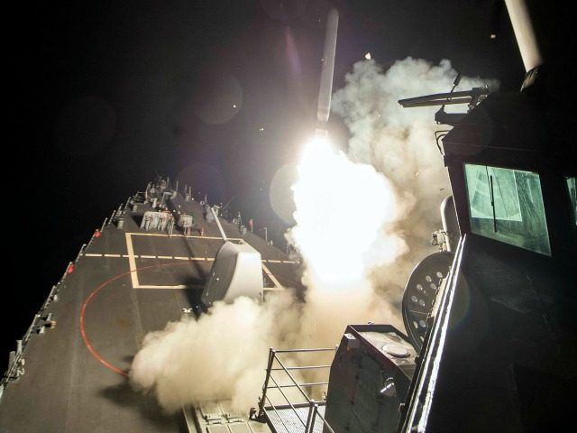 170407-N-FQ994-104 MEDITERRANEAN SEA (April 7, 2017) The guided-missile destroyer USS Ross (DDG 71) fires a tomahawk land attack missile April 7, 2017. USS Ross, an Arleigh Burke-class guided-missile destroyer, forward-deployed to Rota, Spain, is conducting naval operations in the U.S. 6th Fleet area of operations in support of U.S. national …