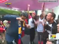 Venezuela: Maduro Dances Hip-Hop as Protesters Burn Down Chávez Statue