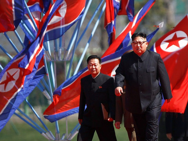 North Korean leader Kim Jong Un arrives for an opening ceremony of a newly constructed residential complex in Ryomyong street in Pyongyang, North Korea April 13, 2017. REUTERS/Damir Sagolj