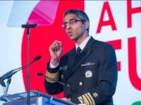 Washington, DC On Friday, May 20th at the Renaissance Downtown Hotel, Vice Admiral (VADM) Vivek H. Murthy, M.D., M.B.A., Surgeon General of the United States, speaks at the Building a Healthier Future Summit. (Photo by Cheriss May/NurPhoto via Getty Images)