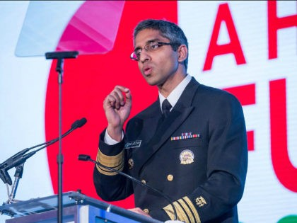 CDC Washington, DC On Friday, May 20th at the Renaissance Downtown Hotel, Vice Admiral (VADM) Vivek H. Murthy, M.D., M.B.A., Surgeon General of the United States, speaks at the Building a Healthier Future Summit. (Photo by Cheriss May/NurPhoto via Getty Images)