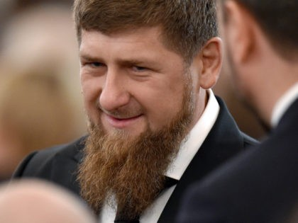 Chechnya's leader Ramzan Kadyrov waits before Russian President Vladimir Putin's Federal Assembly address at the Kremlin in Moscow on December 1, 2016. / AFP / Natalia KOLESNIKOVA (Photo credit should read NATALIA KOLESNIKOVA/AFP/Getty Images)